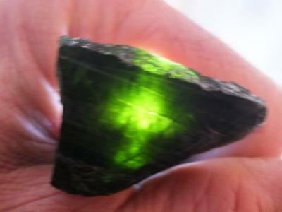 Green Tourmaline Crystal Raw Natural Stone Rare Mineral Untreated Unheated 40mm