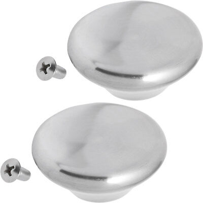 Le Creuset Cooker Oven Pots & Pans Stainless Steel Lid Handle Knobs 2 x Pack