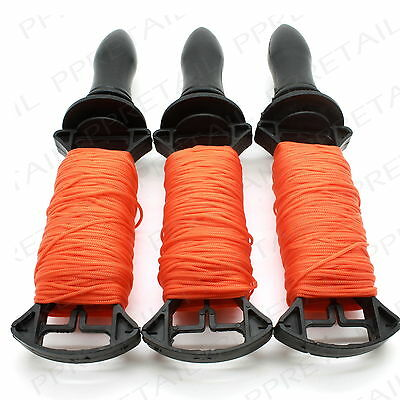 3 x 50M LONG REELS BRICK LINE Builders/Rope/String/Cord/Straight/Level HIGH VIZ