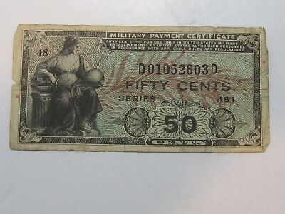 Military Payment Certificate (50 Cent Series 481)