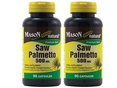 90 X 2 = 180 CAPSULES 100 % SAW PALMETTO PROSTATE HEALT SUPPORT 500 mg
