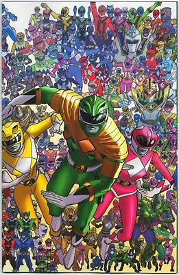 Mighty Morphin' Power Rangers #25 1:25 Collage Variant Boom! Shattered Grid MMPR