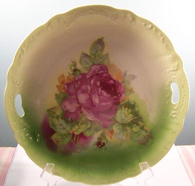 Hand Painted Porcelain Serving Plate 9 3/4""