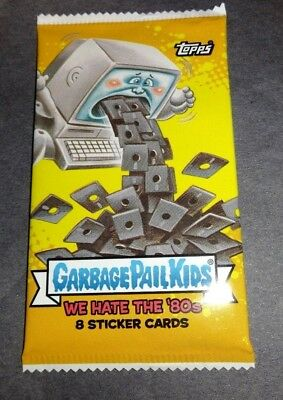 2018 Topps Garbage Pail Kids We Hate the '80's Sticker Cards Pack