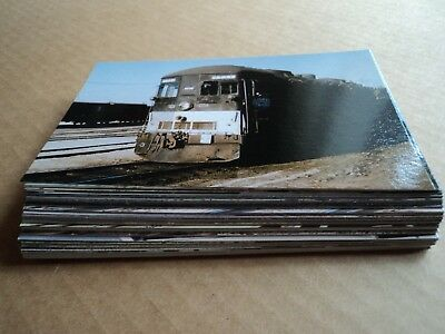 large lot of 66 train railroad vintage postcards - very good condition