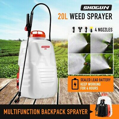 20L Weed Sprayer Garden Backpack Spot Spray w/4 Nozzle Pump Tank Hose Lance Belt