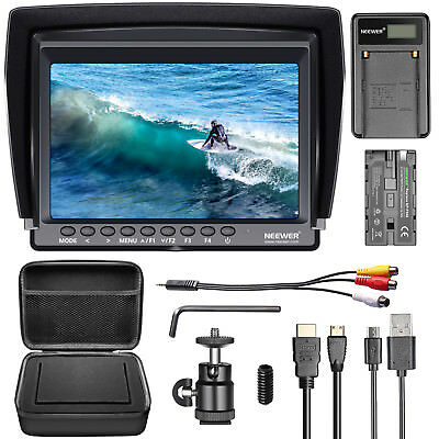 Neewer F100 7-inch 1280x800 IPS Screen Camera Field Monitor Kit for Nikon Canon