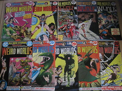 WEIRD WORLDS : COMPLETE 10 ISSUE 1972 DC series by Infantino, Kaluta etc. CARTER