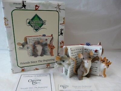 Charming Tails Friends Since The Beginning Mouse Mice Figurine 97/132 NIB