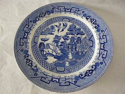 Ridgway China Blue Willow Pattern Dinner Plate 9-3/4  & RIDGWAY CHINA BLUE Willow Pattern Dinner Plate 9-3/4