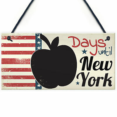 Countdown New York Holiday Plaque Apple Chalkboard Sign Best Friend Couple Gifts
