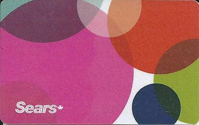 New Mint Gift Card From Sears Canada Bilingual # 2 No Cash Value
