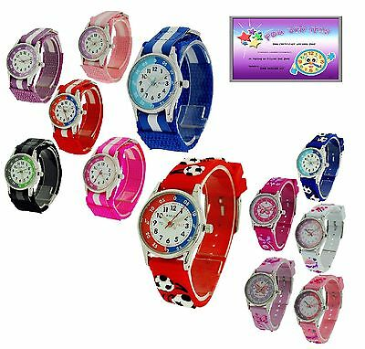 Reflex Time Teacher Watch Easy to Read Children Girl Boys Gift For kids  + Award