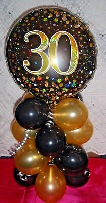 Foil Balloon Age 30 30Th Birthday Table Decoration Display Airfill