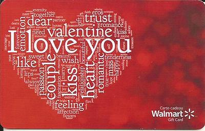 New Valentine's Day 2016 Mint Gift Card From Walmart Canada # 1 Bilingual