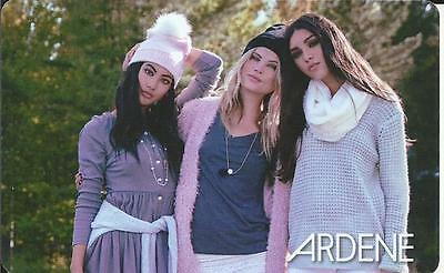 New Three Nice Girls Mint Gift Card From Ardene Canada Bilingual No Value