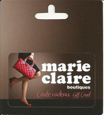 Girl Marie Claire Stores Mint Gift Card From Canada Bilingual No Cash Value