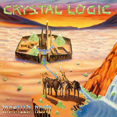 MANILLA ROAD - Crystal Logic  LP  ELECTRIC BLUE