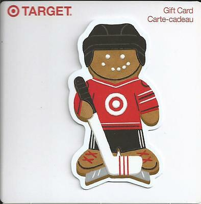 New Hockey Player Mint Gift Card From Target Canada Bilingual No Cash Value