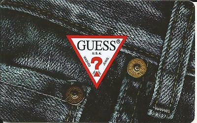 Guess Jeans Mint Gift Card From Canada Bilingual No Value