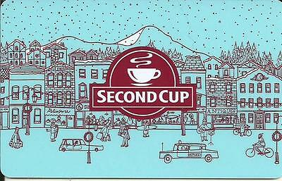 Christmas Mint Gift Card From Second Cup Canada Bilingual 2014