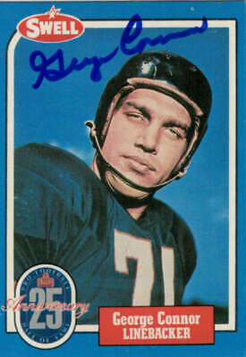 George Connor Autographed/Signed Chicago Bears 1988 Swell Hof Card 80142
