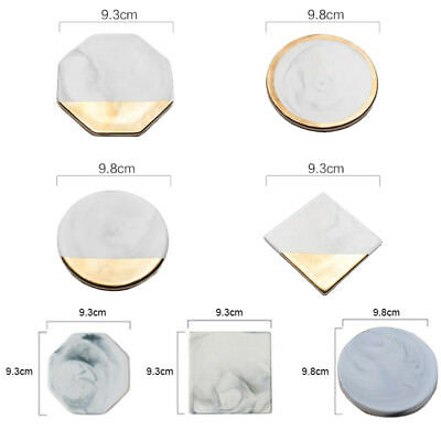 1PC Table Placemat Marble Pattern Coaster Anti-Slip Tea Cup Mat Ceramic Protect