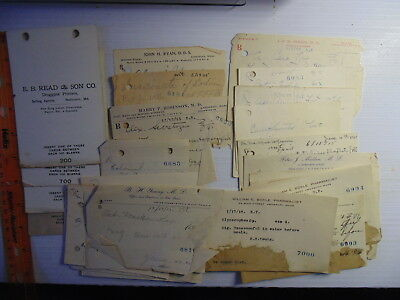 29 Prescriptions From 1915 1916 Amesbury Mass (or nearby) Interesting