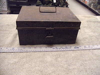 Vintage Important Papers Tin Box , missing locking hasp