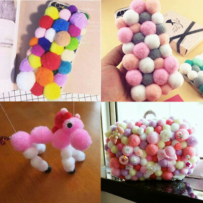 100/1000PCS POM POMS Mini Craft Various Mix Colours Pretty Pompom DIY Decor
