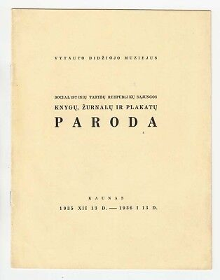 1935 LITHUANIA Soviet Book, Magazine and Poster EXHIBITION in Kaunas Advertising