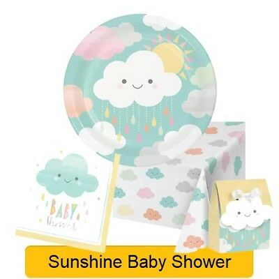 SUNSHINE BABY SHOWER Range Tableware Balloons Decorations Supplies NEW - CP
