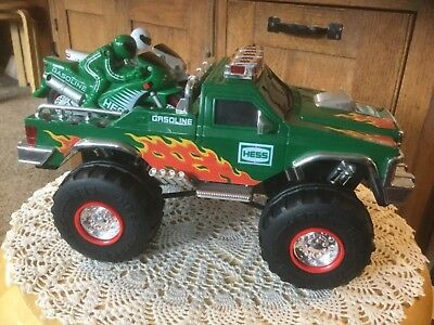 Pre Owned, No Box, Hess 2007 Monster Truck w/ 2 Motorcycles