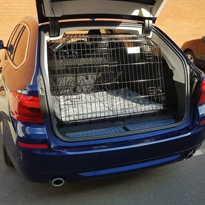 BMW 5 SERIES TOURING 2017 Sloping Dog pet puppy travel cage crate transporter
