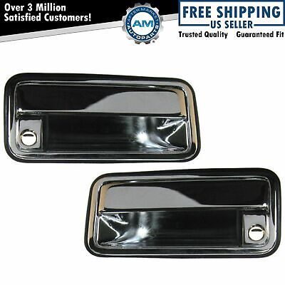 Chrome Front Outer Exterior Outside Door Handle Pair Set for Chevy GMC Truck