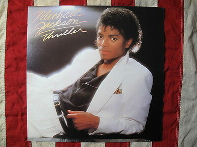 VINTAGE 1982 Michael Jackson Thriller Ltd Edit Promo Poster Flat NEAR MINT