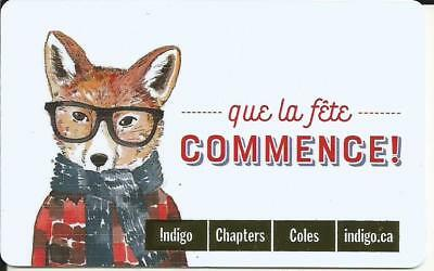 Fox Mint Gift Card From Indigo Chapters Canada Bilingual No Value 2017