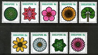 Singapore 1973 Flowers and Plants set of 9 Mint Unhinged