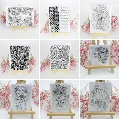 Clear Silicone Rubber Stamps Seal Scrapbooking Album Card Decor Diary DIY Craft