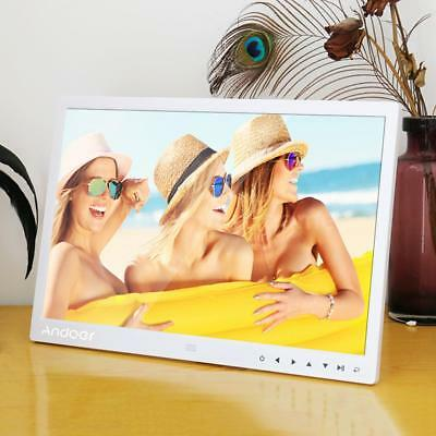 """Andoer 13""""1080P HD Digital Photo Frame MP4 Picture Clock Remote Control G0R2"""