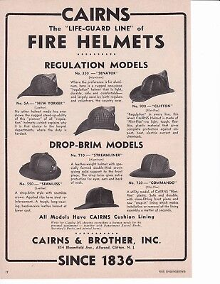 Cairns Life Guard Fire Helmets  1953  Ad                7272