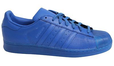 Adidas Superstar Adicolour Lace Up Blue Leather Mens Trainers S80327 M15