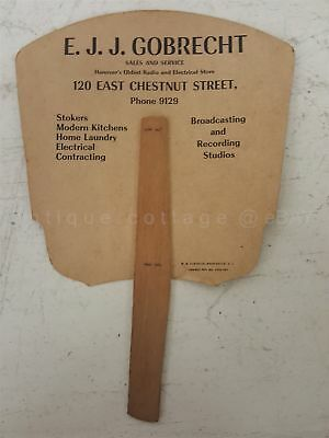 antique HAND FAN hanover pa GOBRECHT RADIO ELECTRICAL STORE advertising