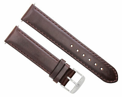 24Mm Leather Watch Band Strap Smooth For 47Mm Panerai Fiddy 1950 Dark Brown #4