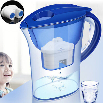 Alkaline Water 10 Cup Pitcher - Pure Healthy Mineral Water Lonizer Filter Jug
