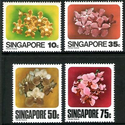 Singapore 1979 Orchids set of 4 Mint Unhinged