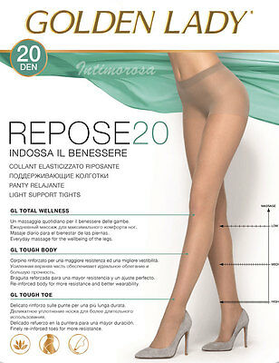 Tights Golden Lady Repose 20 Denier Effect Support Conf. From 5 Pairs