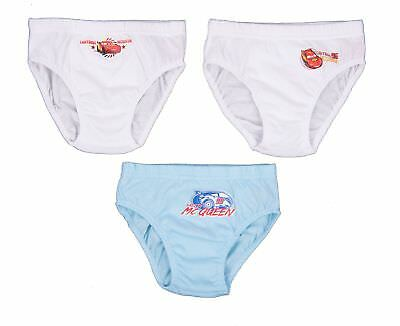 Underwear When He Was A Child Cars Assorted In 100% Cotton 3 Pieces