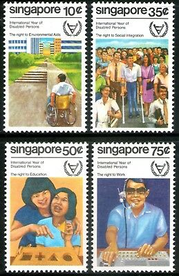 Singapore 1981 Year for Disabled Persons set of 4 Mint Unhinged