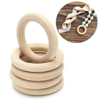 Baby Kids Newborn Natural Round Wood Teething Ring Wooden Teether Sensory Toy Z
